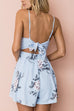 Venidress Euramerican Printed Light Blue Romper