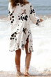 Venidress Ink Painting White Cover-Ups