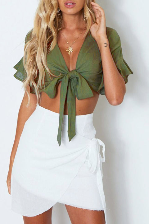 Venidress Why Wait  Crop  Top -Green