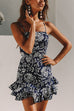 Venidress Blending Bohemian Bateau Neck Spaghetti Strap Sleeveless A Line Mini Dresses