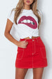 Venidress Casual Lip Printed  T-shirt