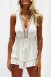 Venidress Hollow-out Drawstring  Romper
