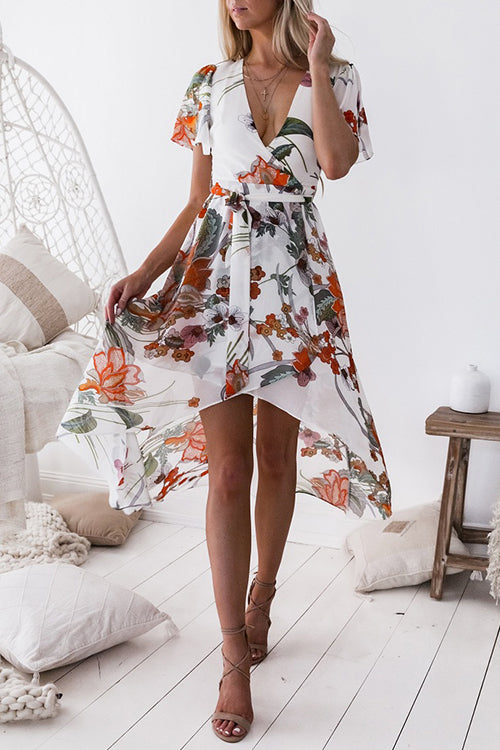 Venidress  V Neck Floral Printed Harper Dress