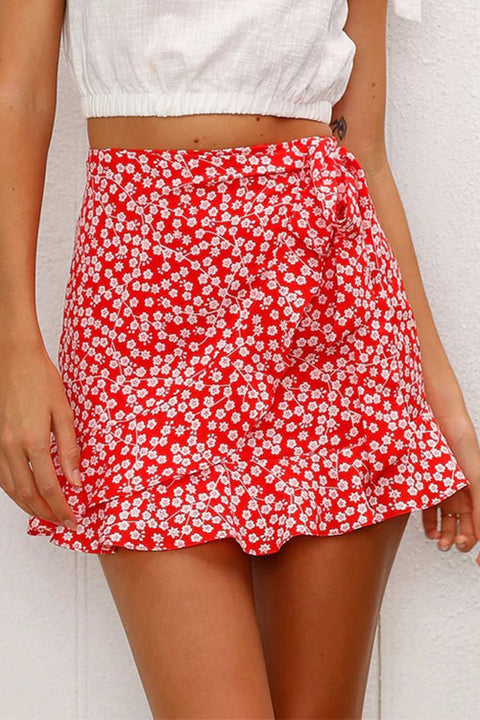 Venidress Sweet Floral Printed Winona Mini Skirts