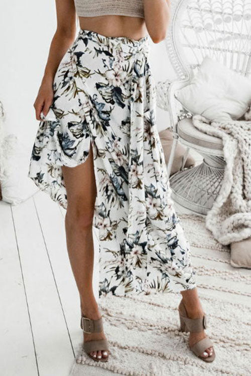 Venidress Floral Printed  Ankle Length Skirts