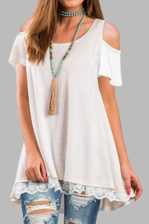 Venidress Dew Shoulder  Asymmetrical T-shirt