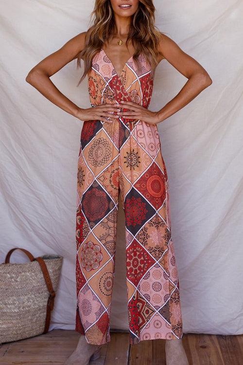 Venidress Euramerican Printed Loose Jumpsuits