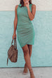 Venidress Ruched Sheath T-shirt Dress (5 Colors)
