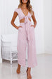 Venidress Checkered Pink Two-piece Pants Set