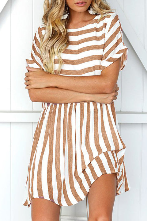 Venidress Daily Striped Mini Dress