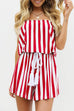 Venidress Off Shoulder Striped Rmpers