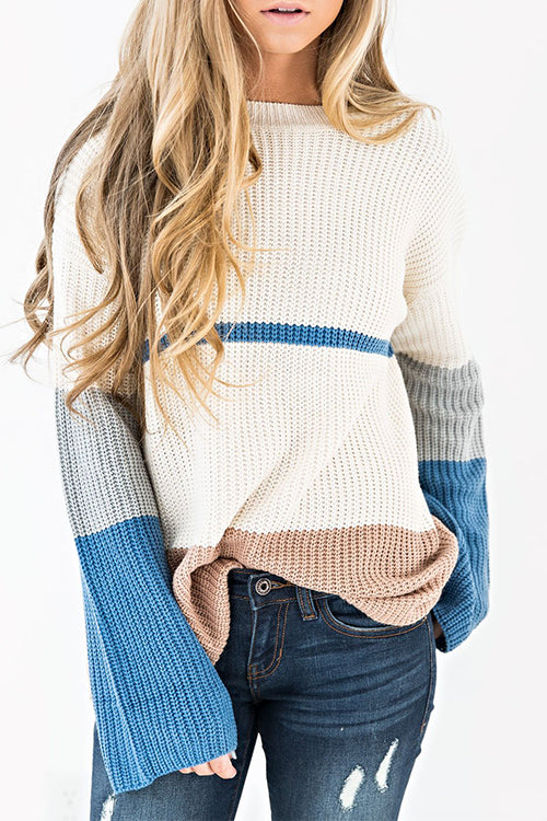 Venidress Classy Long Sleeves Patchwork Sweaters