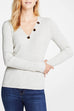 Venidress Trendy Buttons Decorative Slim Sweaters