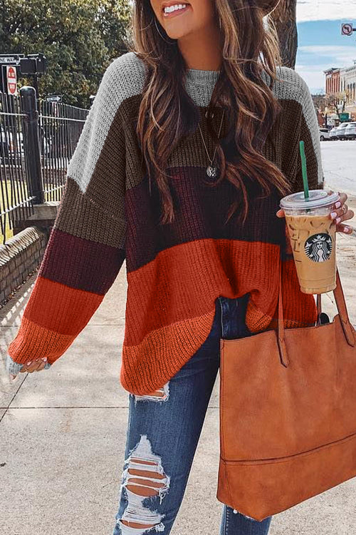 Venidress Fashion Long Sleeve Multicolor Sweater