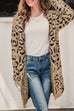 Venidress Euramerican Long Sleeves Leopard Cotton Blends Long Cardigans