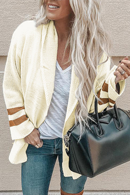 Venidress Casual Long Sleeves Striped Cardigan