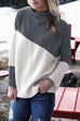 Venidress Fashion Long Sleeves Patchwork Sweater