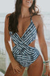 Venidress Trendy Hollowed-out One-piece Swimwear