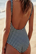Venidress Vintage Grids Printed One-piece Swimwears