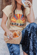 Venidress Casual Printed Apricot T-shirt