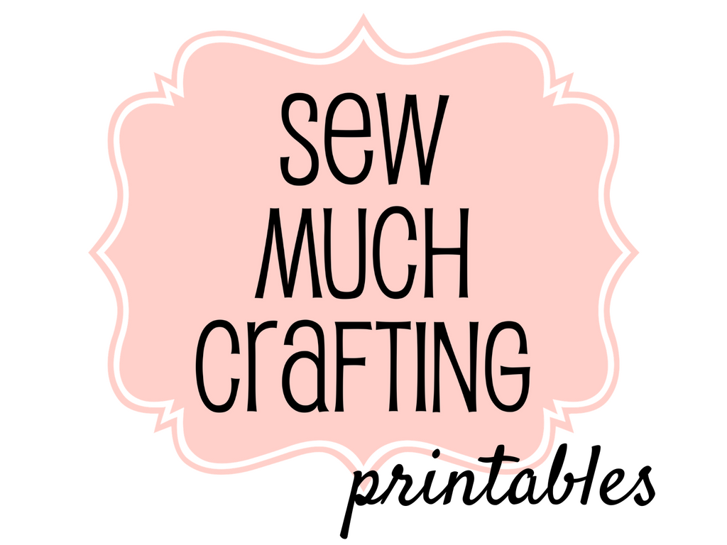 NEW Sew Much Crafting Printables Shop