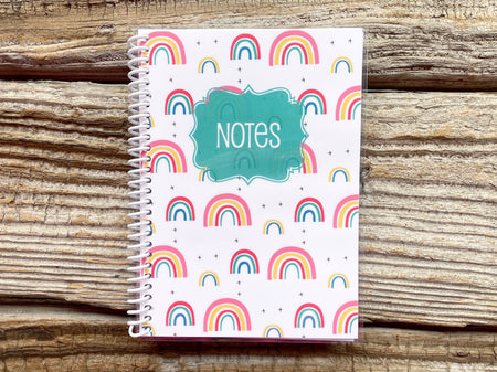 Whimsy Rainbow Spiral Notebook