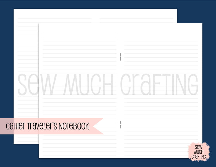 Lined Paper for Traveler's Notebooks