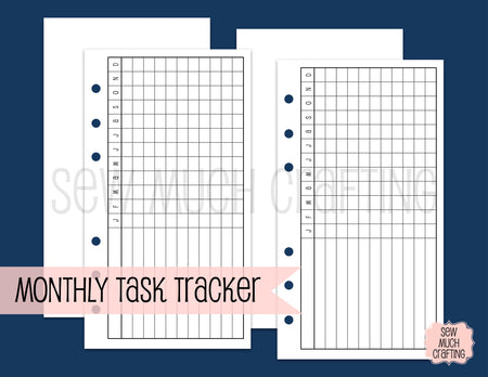 Monthly Task Trackers for Rings