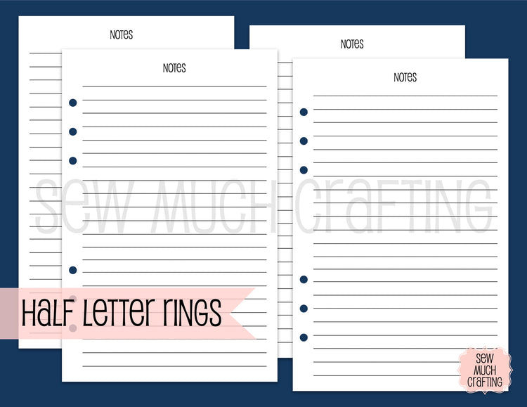 Notes Inserts for Rings