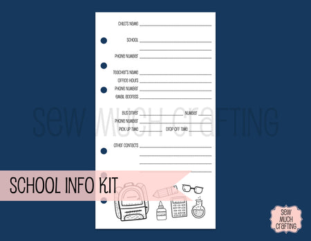 School Information Kit for Rings