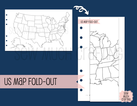US Map Fold-Out for Rings