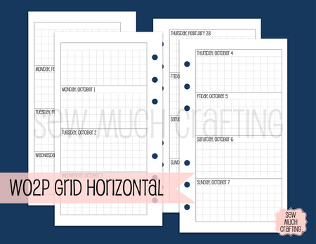 Week on Two Grid Horizontal for Rings {CHOOSE A SIZE}