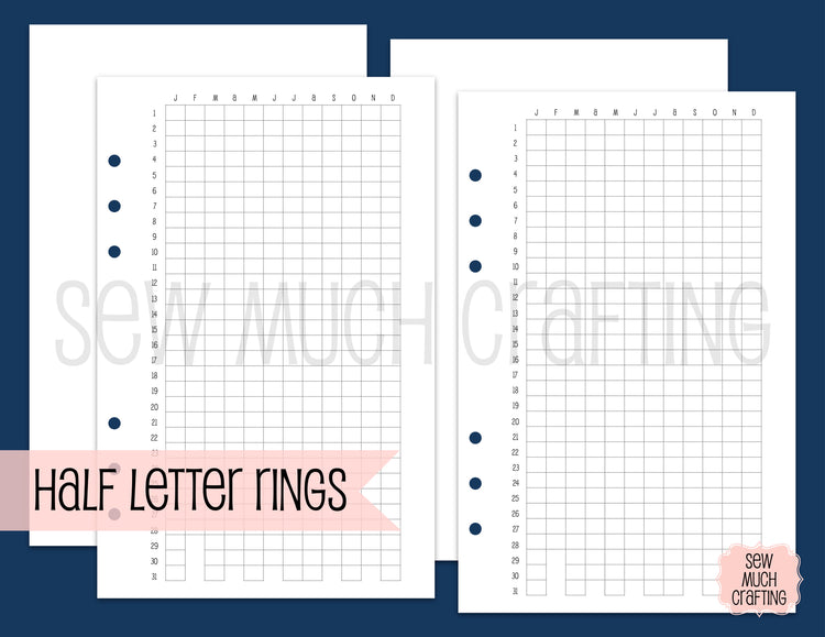 Year in Pixel Inserts for Rings