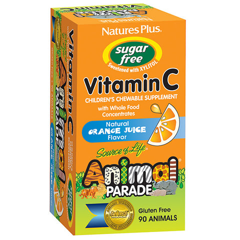 Animal Parade Sugar Free Vitamin C Children's Chewable - Orange Juice Flavor