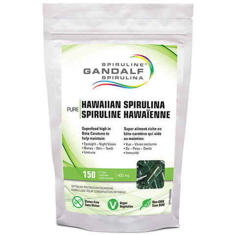 Spiruline- Gandalf Hawaiian Spirulina 400mg 150 caps