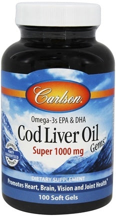 Carlson Cod Liver Oil Super 1000mg