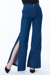 slit flare denim pt