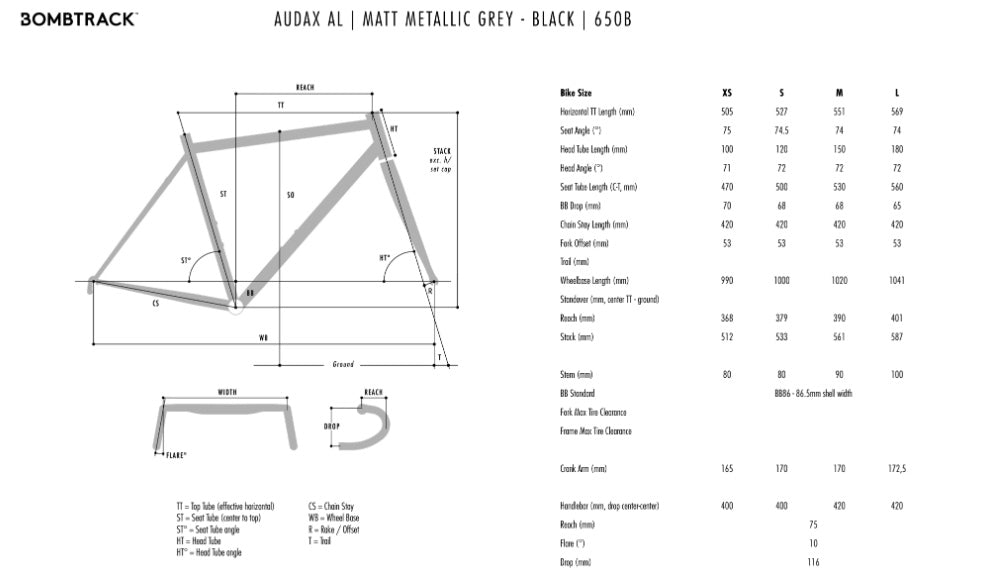 Bombtrack Audax ALGeometry