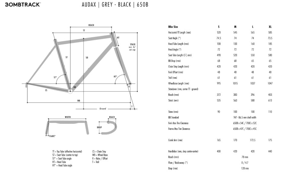 Bombtrack Audax Geometry