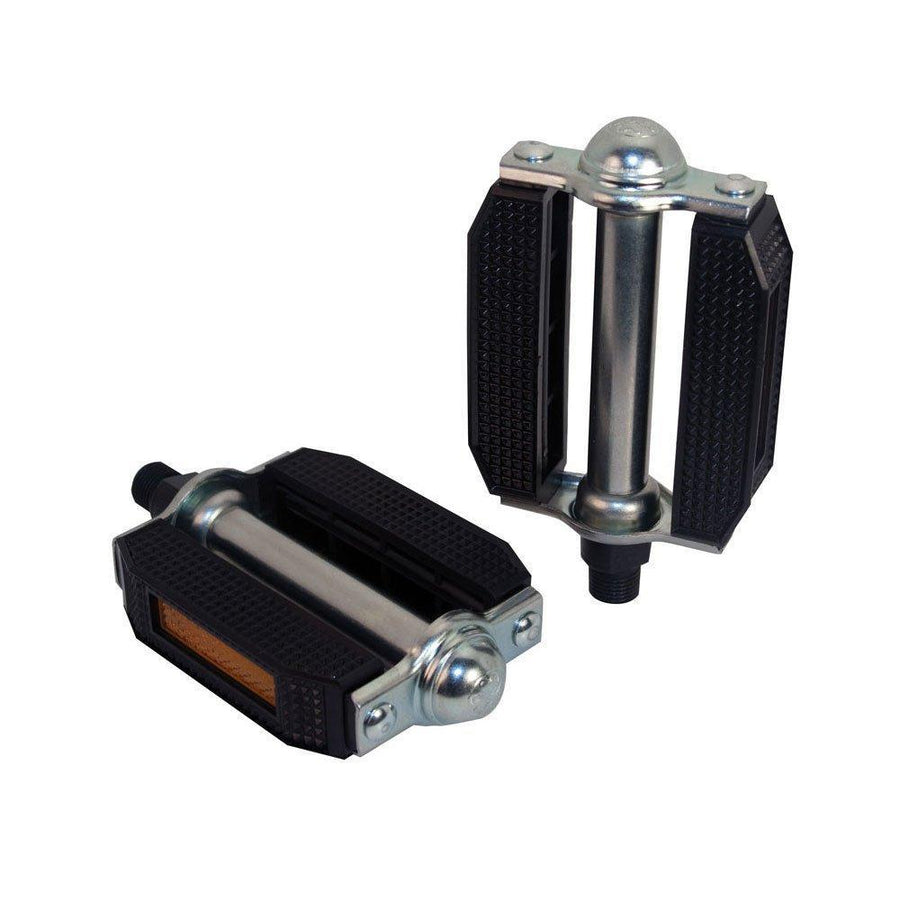PVC Block Pedals Steel 1/2 Black