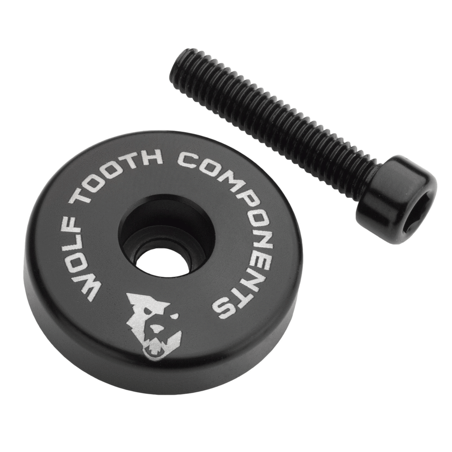 Wolf Tooth Ultralight Stem Cap with Integrated Spacer Black