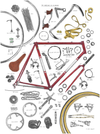 Anatomy of a Bike Print