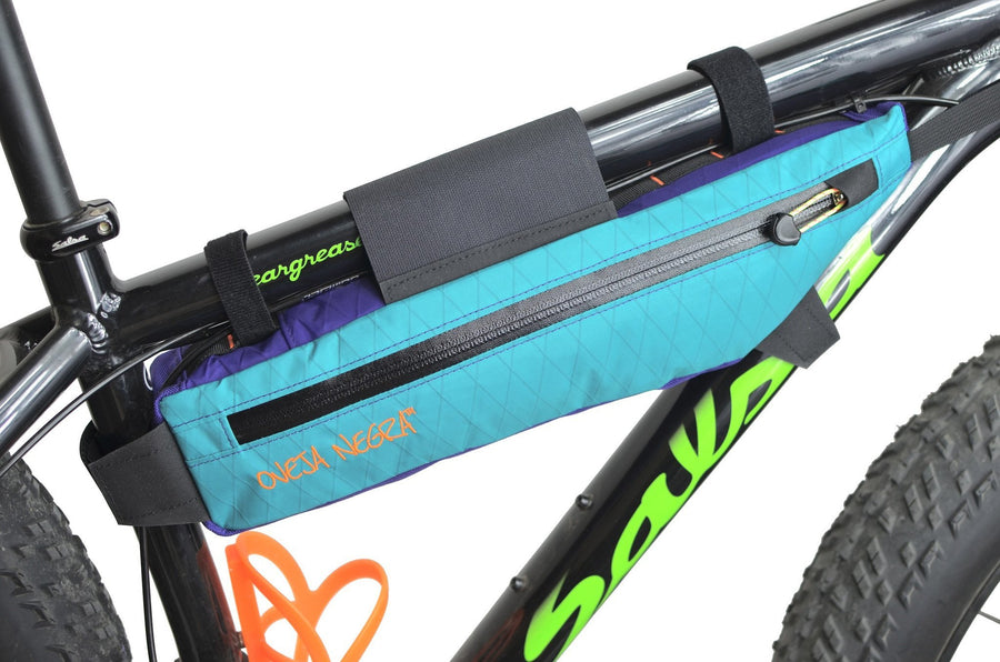 Oveja Negra - 1/2 Pack Frame Bag TEAL/PURPLE LTD - Treadly Bike Shop