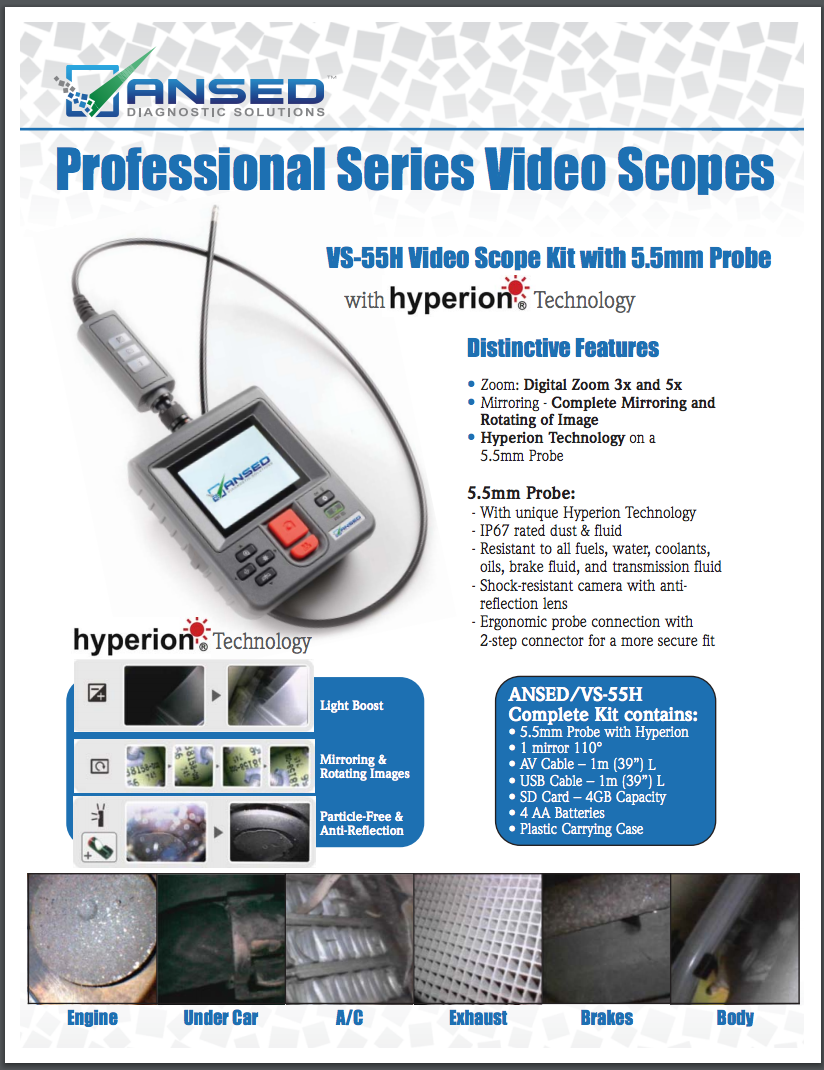 ANSED Diagnostic Solution Videoscope Brochure