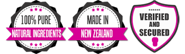 100% Pure Natural Ingredients, Made in New Zealand