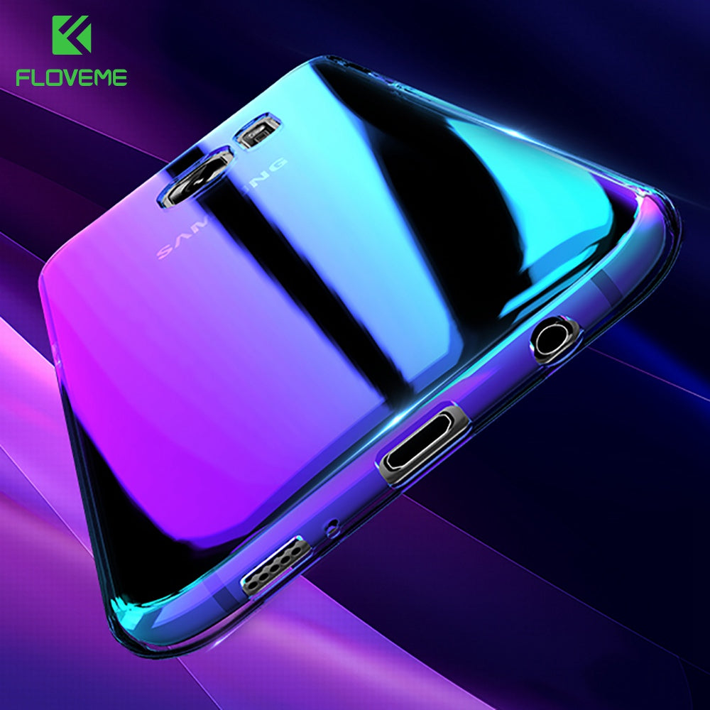 Purple Transparent mirror phone case Galaxy S8/ S8 plus