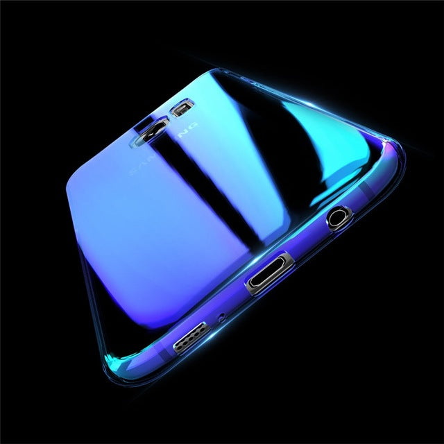 Blue Transparent mirror phone case Galaxy S8/ S8 plus