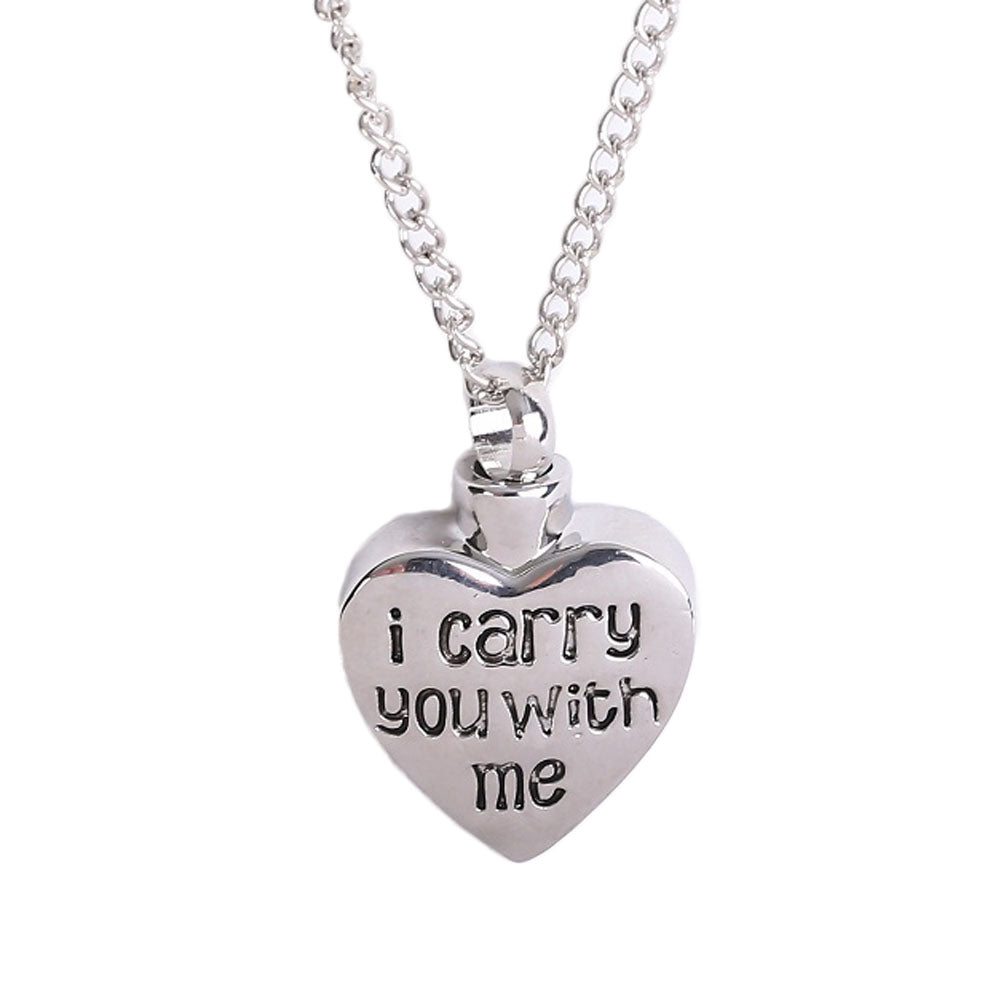 2017 fashion letter i carry you with me heart shape cremation 2017 fashion letter i carry you with me heart shape cremation jewelry ashes urn pendant mozeypictures Image collections