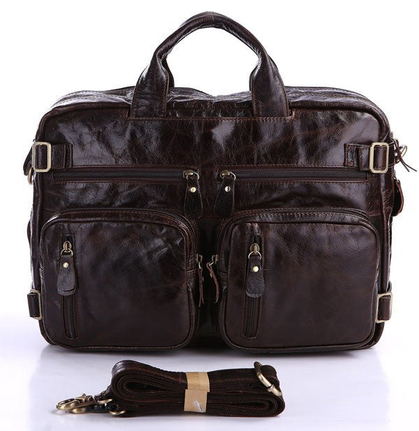 Multifunction Genuine leather Men's Bag