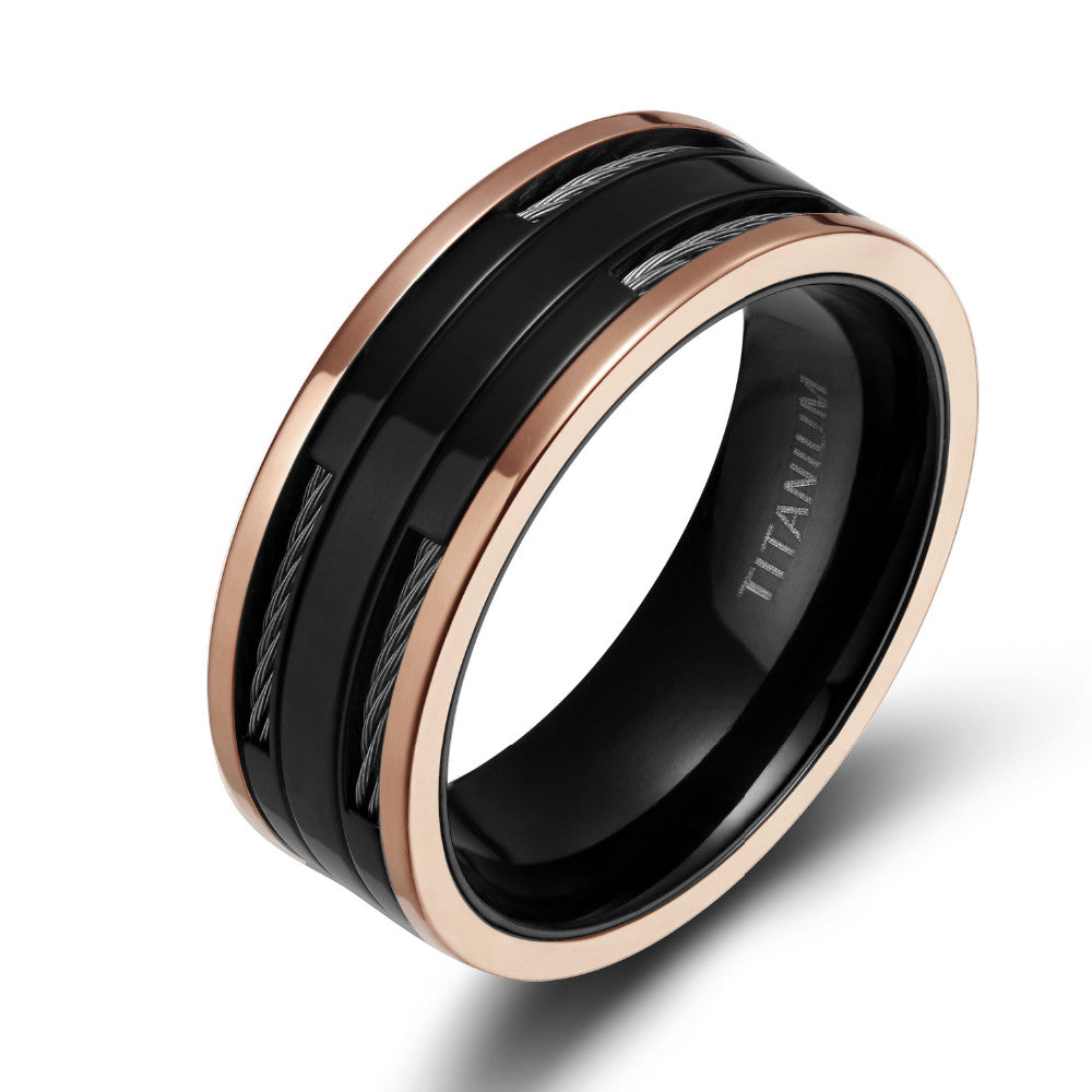 Men's Black Toronto Titanium Ring